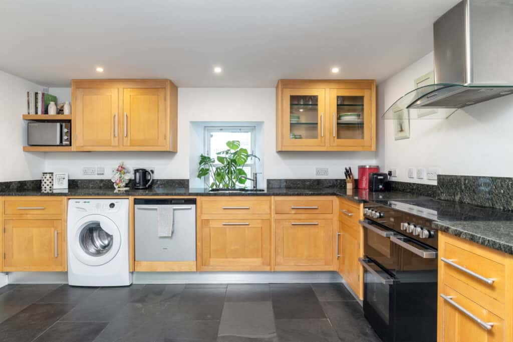 A fully kitted out kitchen is a must in self catering accommodation in cairngorms