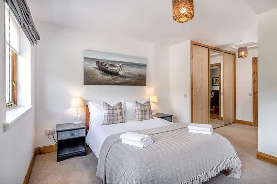 Master bedroom in self catering accommodation