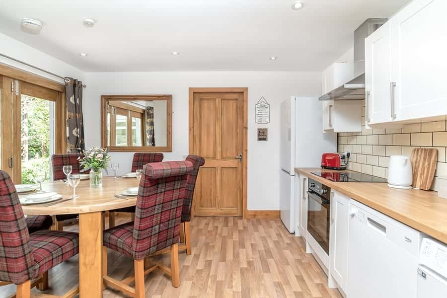 Self catering kitchen in the Highlands